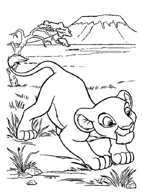 King Kleurplaat by Kleurplaat King Of De Leeuwenkoning Simba