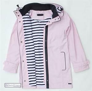 Women's Waterproof Jacket, Pink, Hooded, Striped Lined