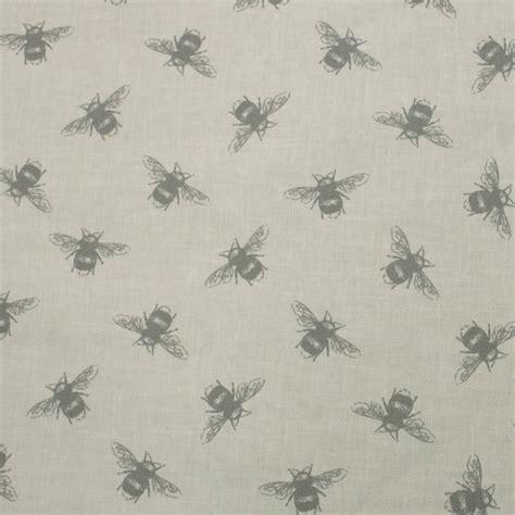Linen Cotton Upholstery Fabric by Fryetts Bees Linen Cotton Curtain Fabric Closs Hamblin
