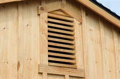 horse barn options gable vents