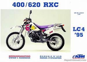 1995 Ktm 400 620 Rxc Motorcycle Owners Handbook