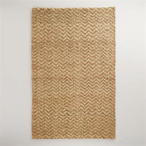 world market rug 5 x 8 chunky weave chevron jute rug world market