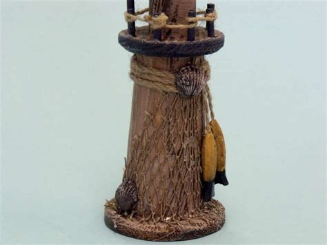 rustic wooden lighthouse 9 inch lighthouse decor