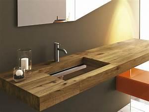 lavabo salle de bain de design italien moderne en 35 idees With plan vasque bois salle de bain