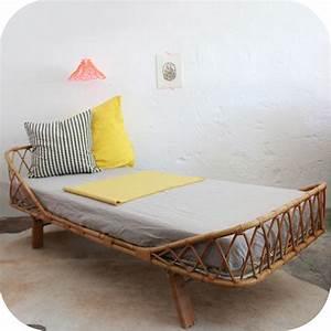 Lit Enfant Vintage : d550 mobilier vintage lit vintage rotin enfant b atelier du petit parc ~ Teatrodelosmanantiales.com Idées de Décoration