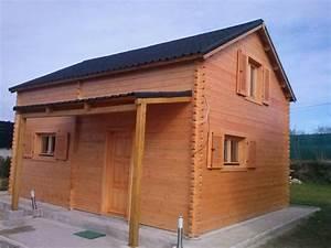 Chalet En Bois Habitable Livré Monté : maison de jardin avec ossature bois de 35 m avec tage 70 ~ Dailycaller-alerts.com Idées de Décoration