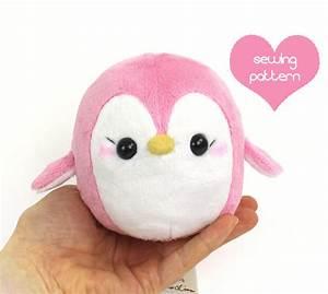 PDF sewing pattern - Penguin stuffed animal - easy kawaii ...