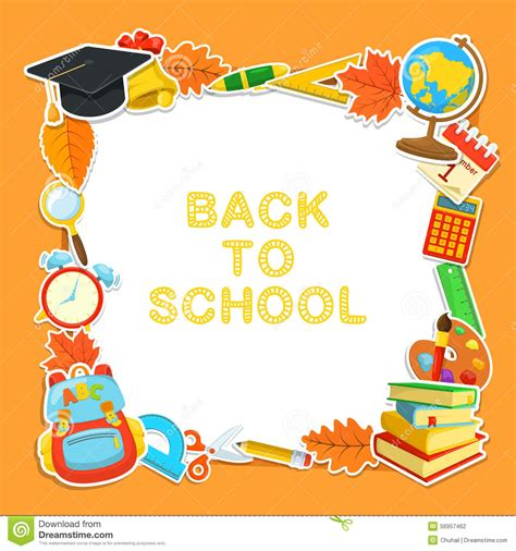 welcome back to school stock vector illustration of classroom 56957462