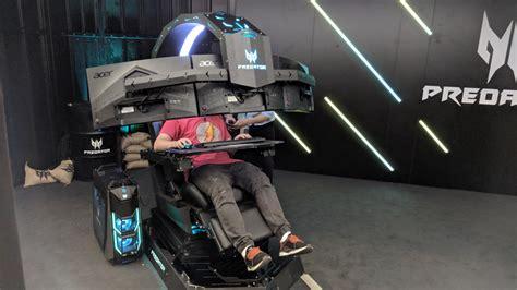 acer teases predator thronos  gargantuan motorized