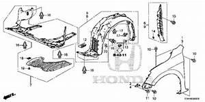 Oem 2017 Honda Accord Hybrid Sedan Front Fenders Parts
