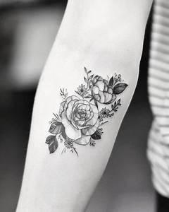 flower forearm tattoo | Tumblr