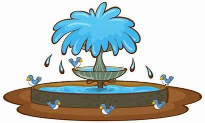 Fuente Fountain Freepik Gratis Aves Blanco Fondo