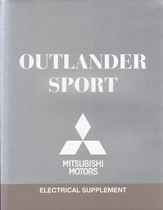 2015 Mitsubishi Outlander Sport Wiring Diagram Manual Original