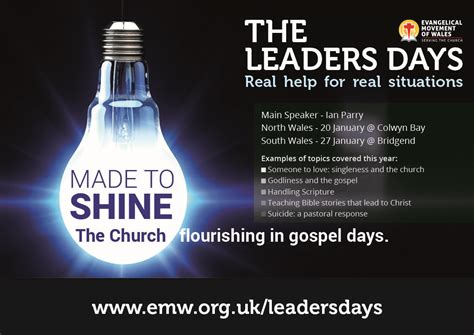 church leadership training days evangelical movement