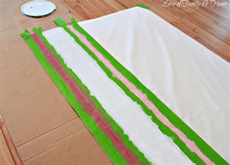diy painted cafe curtain tutorial
