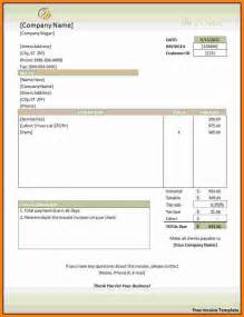 Free Printable Invoice Template Word Document