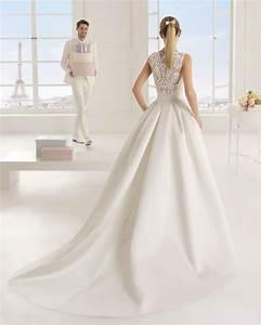 rosa clara 9a159 eric robe en satin duchesse et dentelle With robe dentelle ecru