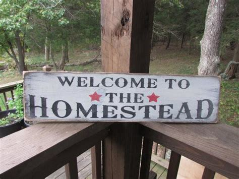 Primitive Rustic Signs Welcome Home