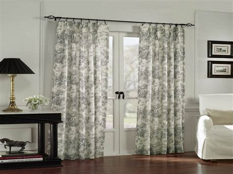 sliding door curtain rod ideas door panel curtains blackout size of grey and white
