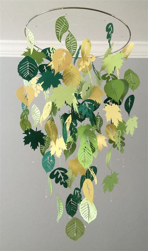 Kinderzimmer Deko Urwald by Falling Leaves Mobile Summer Green And Yellow Boy Room