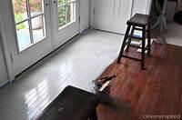 paint wood floors Painting a prefinished hardwood floor