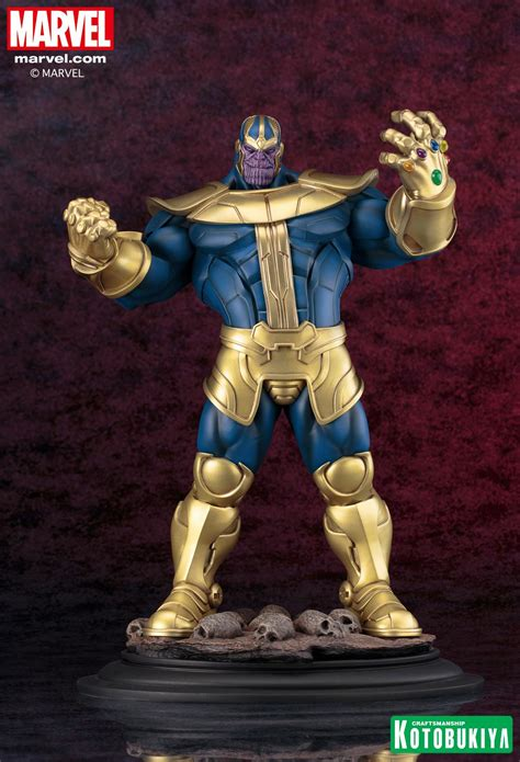 kotobukiya marvel universe thanos fine art statue