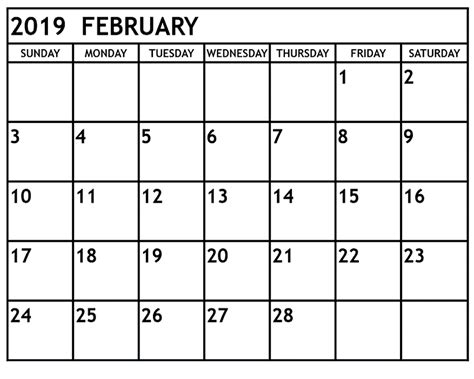 calendar easily edited template download february 2019 editable calendar template free