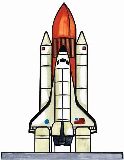 Shuttle Space Ship Draw Drawing Clipart Drawings