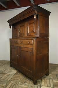Cupboard Antique by 18th Century Antique Oak Cwpwrdd Deuddarn Cupboard
