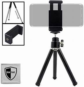 """GearFend Lightweight Mini 5.5"""" Tripod with Extendable Legs Smartphone Mount for Smartphone ..."""