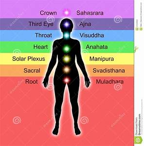 Chakra Diagram Stock Illustration  Illustration Of Glow