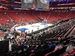 Detroit Pistons Seating Chart With Seat Numbers Little Caesars Arena Section 113 Detroit Pistons