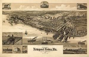 Historical Map of Newport News, VA - 1891