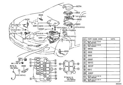 Lexus Engine Diagram Automotive Parts