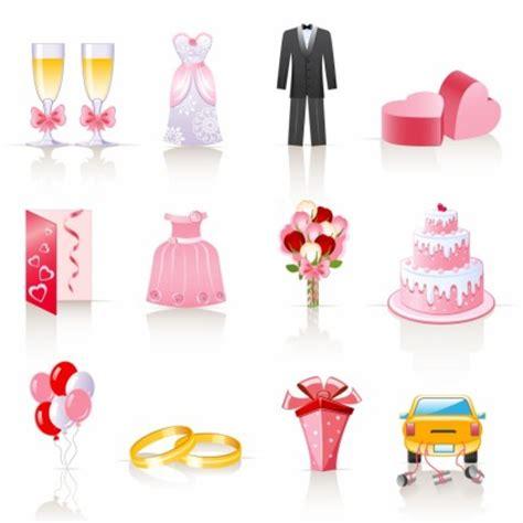 kartun vektor pink pernikahan perhiasan kartun vektor