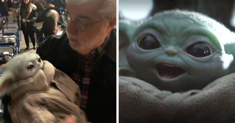 George Lucas Holding Baby Yoda Is The Wholesome Content We ...