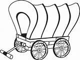 Pioneer Wagon Clip Coloring sketch template
