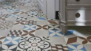 Pvc Carreau De Ciment : sol vinyle loft carreau ciment saint maclou toilettes ~ Dode.kayakingforconservation.com Idées de Décoration