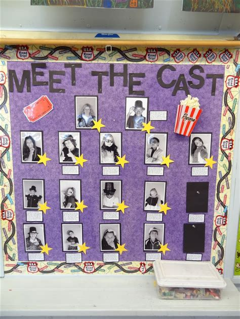 another pic from my open house i had a quot meet the cast 901 | 2cbd398a326b6f283a77713f916aee59 teaching themes classroom themes