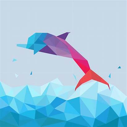 Vector Geometric Animals Simple Shape Illustration Animal