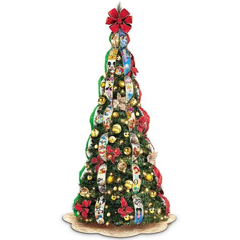 disney pop  fully decorated lighted christmas tree
