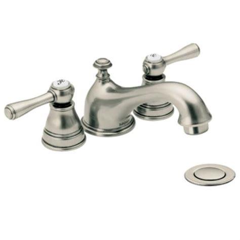 Moen Bath Faucet by Antique Nickel Two Handle Low Arc Bathroom Faucet T6103an