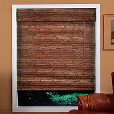 Arlo Blinds 04tbi Randa Auburn Bamboo Roman Shade Lowe's