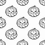 Premium Zephyr Emoticon Doodle Seamless Kawaii Drawn Isolated Ink Characters Icon Cartoon Pattern Vector Illustration Face Funny sketch template