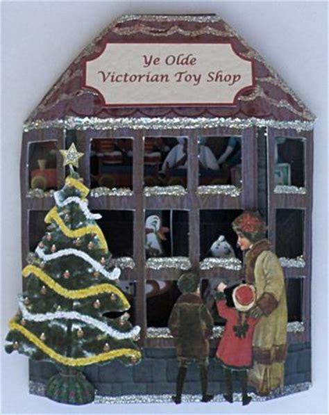 victorian toy shop window card cup