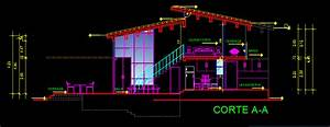 Two Story Small House 2d Dwg Plan For Autocad  U2022 Designscad