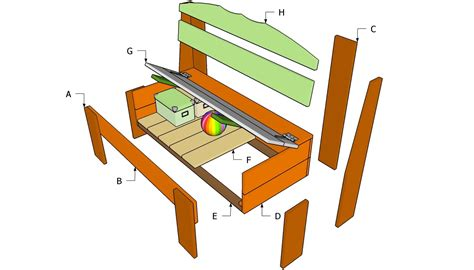build diy    timber storage bench seat  plans