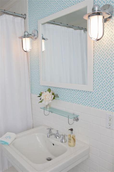 blue bathroom wallpaper  grasscloth wallpaper
