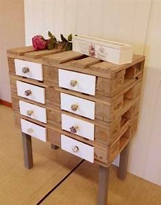 meuble en palettes et decoration en 35 idees diy creatives With idee deco meuble bois