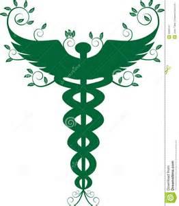 Caduceus Medical Symbol Green